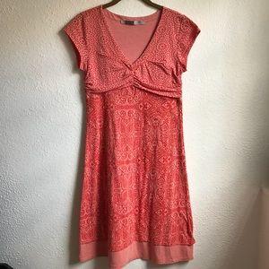 Athleta jersey paisley Orange dress